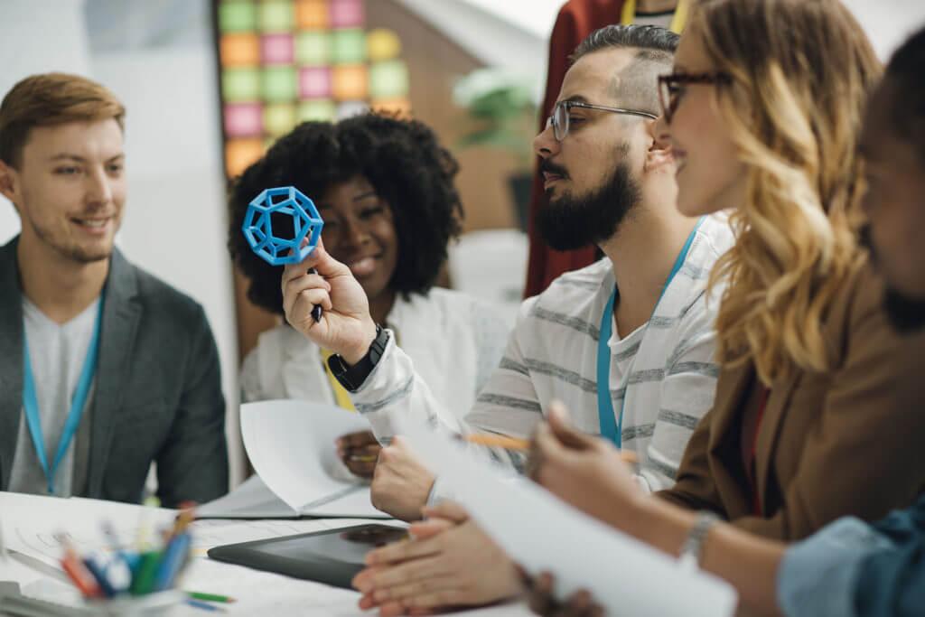 Diversity startup business team