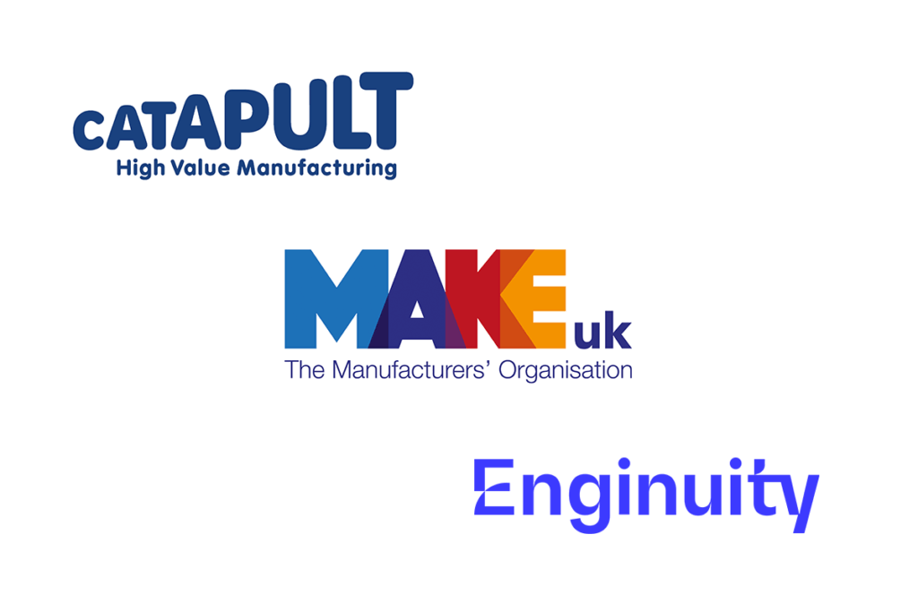 Catapult Make UK Enginuity logos