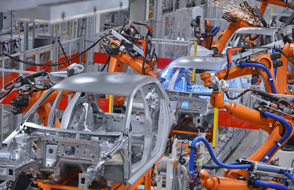 Engineering Automation and Robotics in a Car Factory