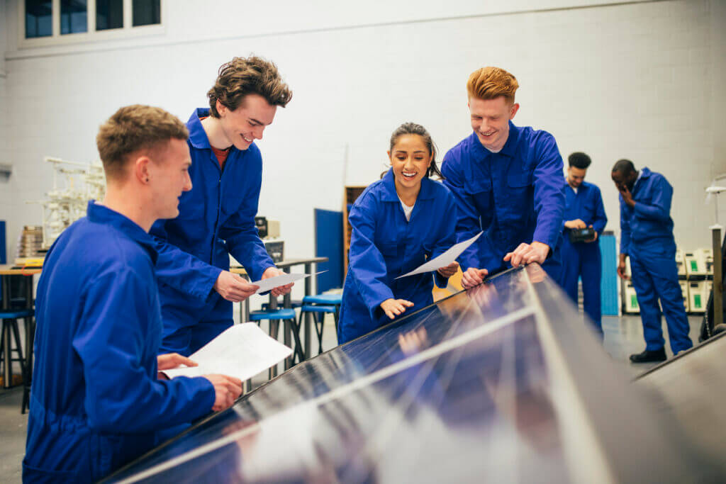 Apprentices using green skills to build back better with solar technology