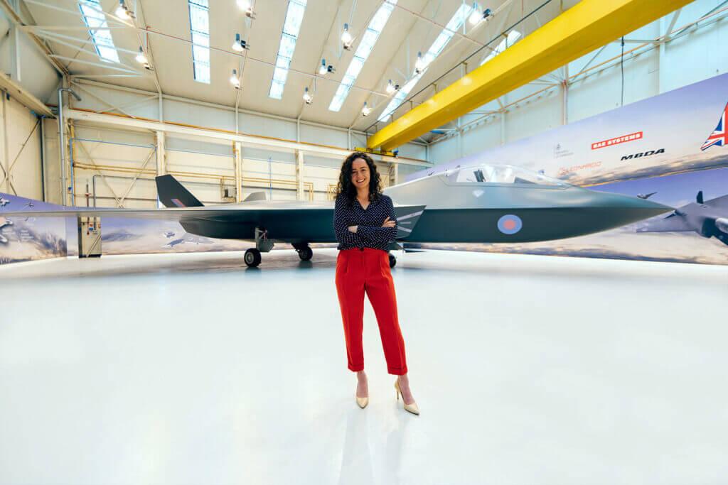 Female aerospace engineer